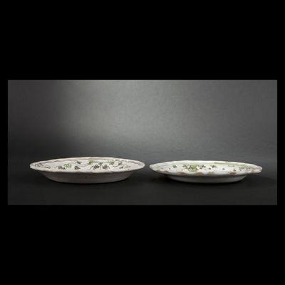 Expertissim - Assiette décorative-Expertissim-BORDEAUX. Deux assiettes