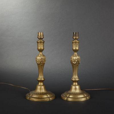 Expertissim - Flambeau-Expertissim-Paire de flambeaux d'époque Louis XVI
