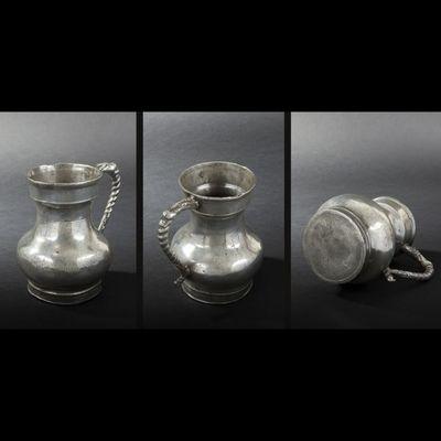 Expertissim - Pichet-Expertissim-Pot à eau en étain. Metz, XVIIIe siècle