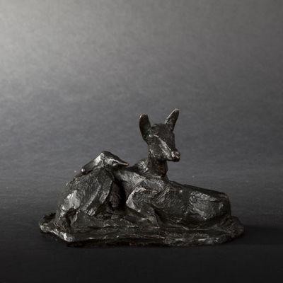 Expertissim - Sculpture animalière-Expertissim-P.-R. CHRISTOPHE. Biches en bronze