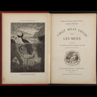 Expertissim - Livre ancien-Expertissim-VERNE (Jules). Vingt mille lieues sous les mers