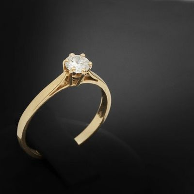 Expertissim - Bague-Expertissim-Bague solitaire en or et diamant
