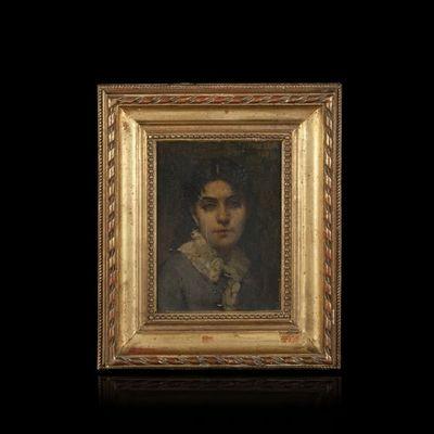 Expertissim - Portrait-Expertissim-JOBBE-DUVAL. Portrait de jeune femme, 1881