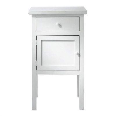 chevet blanc gustave table de chevet maisons du monde. Black Bedroom Furniture Sets. Home Design Ideas
