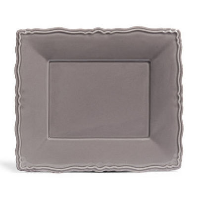Maisons du monde - Assiette plate-Maisons du monde-Assiette plate Marquise grise
