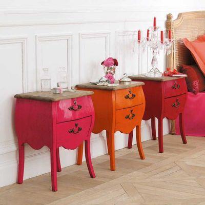 Maisons du monde - Commodine-Maisons du monde-Chevet rose Haute couture