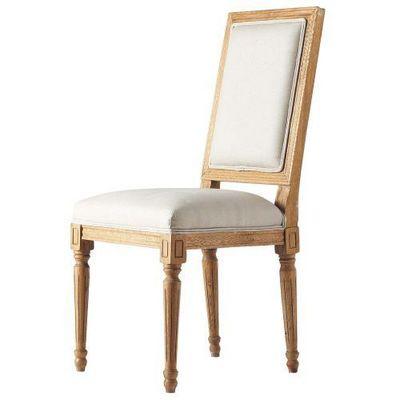 Maisons du monde - Chaise-Maisons du monde-Chaise lin Régence