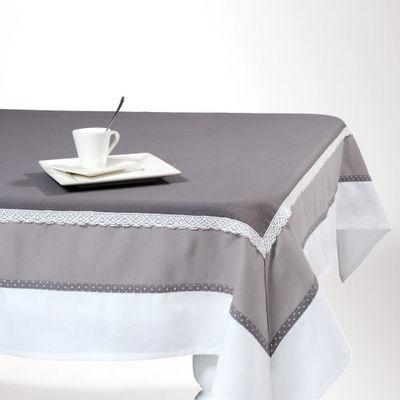 nappe chaumont gris fonc nappe rectangulaire maisons du monde. Black Bedroom Furniture Sets. Home Design Ideas