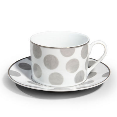 Maisons du monde - Tasse � caf�-Maisons du monde-Tasse et soucoupe Mixed pois
