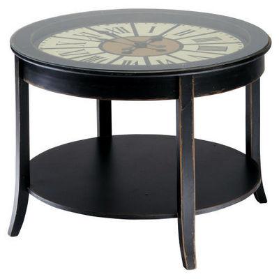 Maisons du monde - Table basse ronde-Maisons du monde-Table basse noire Teatime