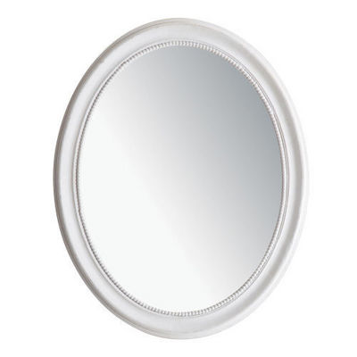 Maisons du monde - Miroir-Maisons du monde-Miroir Louis ovale blanc