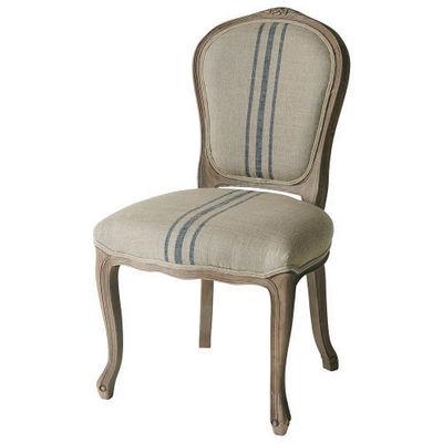 Maisons du monde - Chaise-Maisons du monde-Chaise rayures bleues Adélaïde