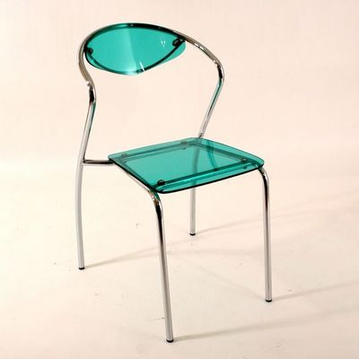 CLEAR SEAT - Chaise-CLEAR SEAT-Chaise Plexiglass Malibu Verte Lot de 4