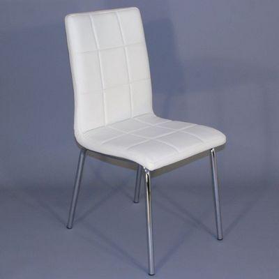 CLEAR SEAT - Chaise-CLEAR SEAT-Chaise Simili Cuir Matelassée Batz Blanche
