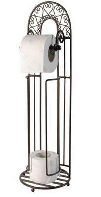 Antic Line Creations - Distributeur papier toilette-Antic Line Creations-Porte papier toilette et réserve en métal