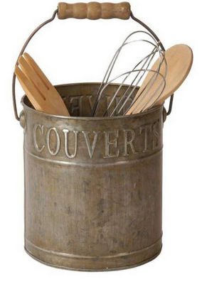 Antic Line Creations - Range-couverts-Antic Line Creations-Range couverts en zinc avec anse 15,7x14,2x24cm