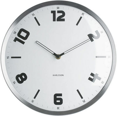 Karlsson Clocks - Horloge murale-Karlsson Clocks-Horloge ronde studio blanche 30cm