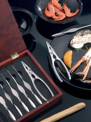Brandani - Service à crustacés-Brandani-Coffret crustacés 8 pièces en inox 26x21x4cm