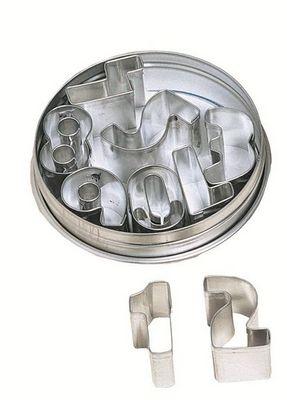 Redecker - Lettre décorative-Redecker-Emporte pièces chiffres 9 pièces 7x7x2cm