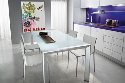 Fiam - Table de repas rectangulaire-Fiam-afill alluminio