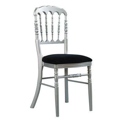 DECO PRIVE - Chaise-DECO PRIVE-Chaise Napoleon III empilable argent et noire