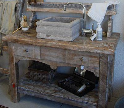BLEU PROVENCE - Meuble de salle de bains-BLEU PROVENCE-Vintage