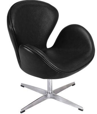 Arne Jacobsen - Fauteuil rotatif-Arne Jacobsen-Fauteuil Cygne Noir Arne Jacobsen