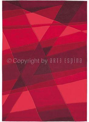 Arte Espina - Tapis contemporain-Arte Espina-Tapis de chambre LUMINOUS Rouge 120x180 en Acryliq
