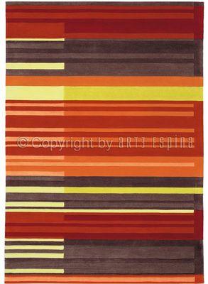 Arte Espina - Tapis contemporain-Arte Espina-Tapis de chambre COLOUR CODES rouge 120x180 en Acr