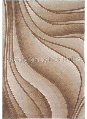 Arte Espina - Tapis contemporain-Arte Espina-Tapis de chambre IN MOTION beige 120x180 en Acryli