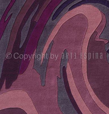 Arte Espina - Tapis contemporain-Arte Espina-Tapis de petit tapis ACTION PAINTING violet 70x140