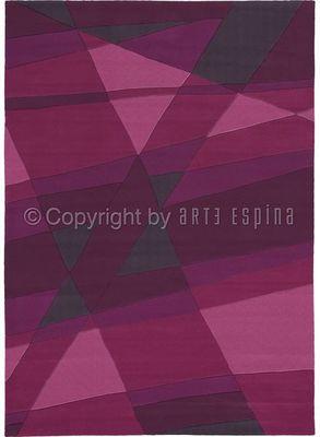 Arte Espina - Tapis contemporain-Arte Espina-Tapis de salon LUMINOUS 1 violet 170x240 en Acryli