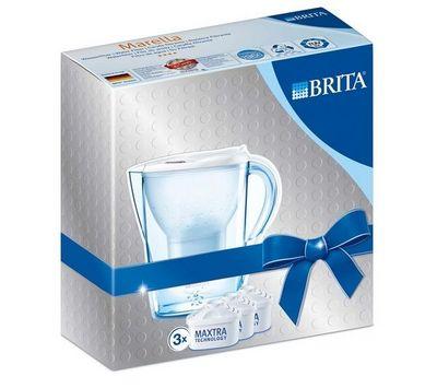 BRITA - Carafe filtrante-BRITA-Marella - blanc - Carafe filtrante + 3 cartouches