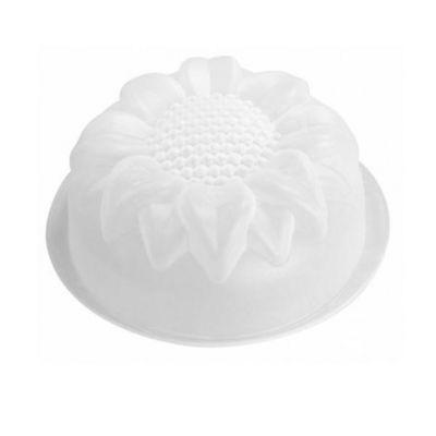 WHITE LABEL - Moule à gâteau-WHITE LABEL-Moule à charlotte en silicone motif floral Tournes