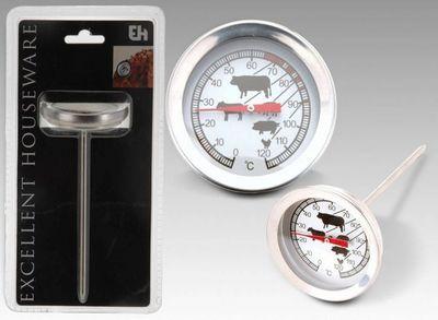 WHITE LABEL - Thermomètre à four-WHITE LABEL-Thermométre à viandes en acier inoxydable