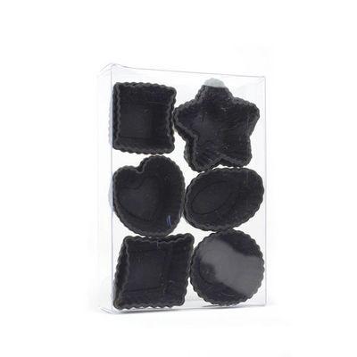 WHITE LABEL - Moule à tarte-WHITE LABEL-Lot de 12 mini moules en silicone