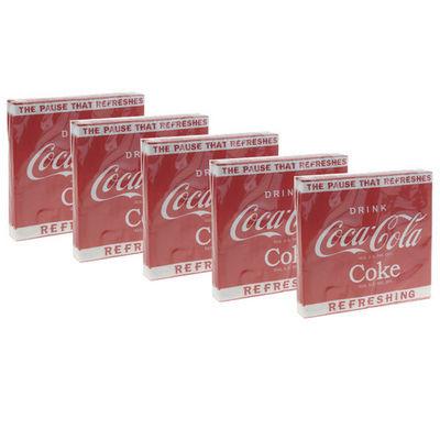 WHITE LABEL - Serviette de table-WHITE LABEL-5 paquets de 20 serviettes collection Coca Cola tr