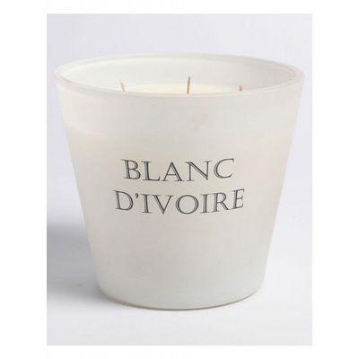 BLANC D'IVOIRE - Bougie parfum�e-BLANC D'IVOIRE-Fleur d'eau