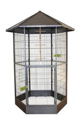 ZOLUX - Cage à oiseaux-ZOLUX-Volière héxagonale mélody en métal 208x151x131cm