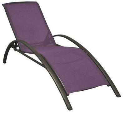 PROLOISIRS - Chaise longue de jardin-PROLOISIRS-Lit de jardin Sartene en aluminium et textil�ne Ca