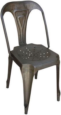 Antic Line Creations - Chaise-Antic Line Creations-Chaise Vintage en métal Vieilli