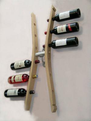 Douelledereve - Range-bouteilles-Douelledereve-Porte bouteilles double en chêne finition naturell
