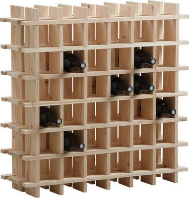BARCLER - Range-bouteilles-BARCLER-Casier à vin en bois 36 bouteilles 71,5x22x71,5cm