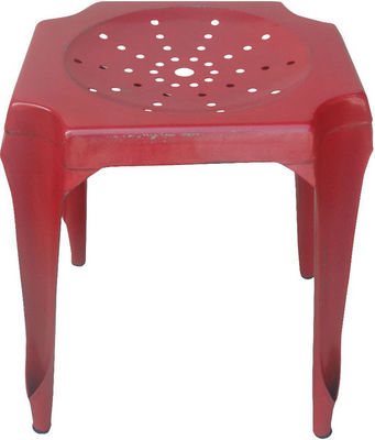 Antic Line Creations - Tabouret-Antic Line Creations-Tabouret Vintage en métal Rouge