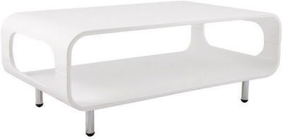KOKOON DESIGN - Table basse rectangulaire-KOKOON DESIGN-Table basse rectangulaire ligna en bois blanc 85x5
