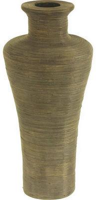 Aubry-Gaspard - Soliflore-Aubry-Gaspard-Vase en rotin patiné