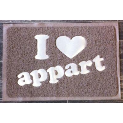 Cm - Paillasson-Cm-Paillasson I love appart - Couleur - Taupe