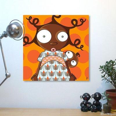 SERIE GOLO - Tableau décoratif enfant-SERIE GOLO-Toile imprimée arétha 60x60cm
