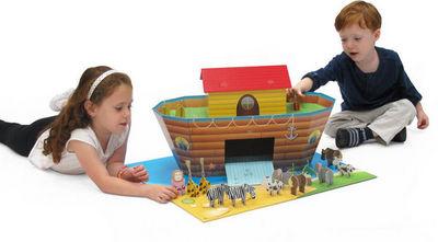 KROOOM-EXKLUSIVES FUR KIDS - Maison enfant-KROOOM-EXKLUSIVES FUR KIDS-Arche de noé en carton recyclé 64x59x35cm