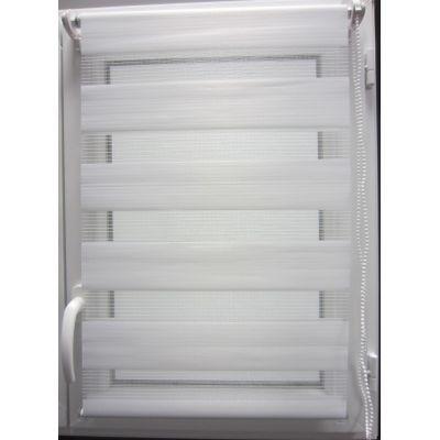 Luance - Store enrouleur-Luance-Store lumière et nuit blanc 60x180cm